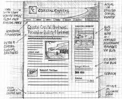 Boceto web diseñado para un proyecto web